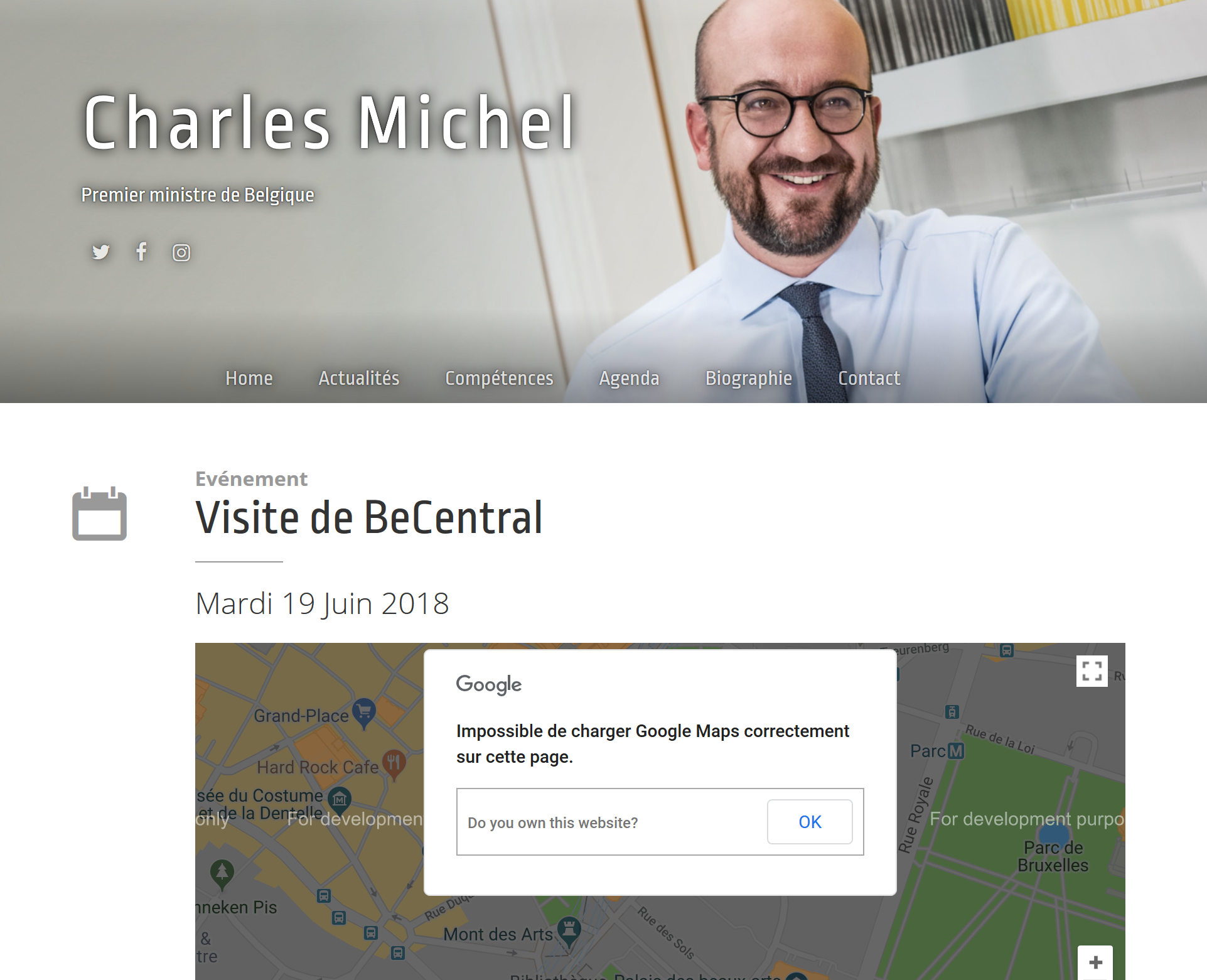 Impact sur le site du Premier Ministre