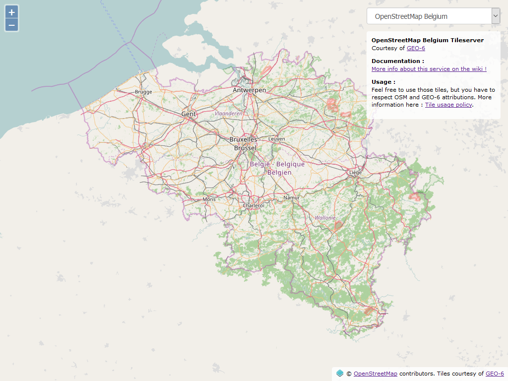 Tile Server – OpenStreetMap Belgique